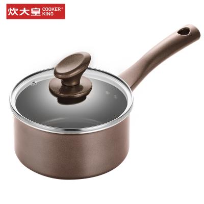 炊大皇(COOKER KING)烽味不粘易潔奶鍋16cm電磁爐明火通用NG16FW