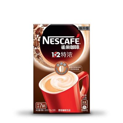 雀巢(Nestle)1+2 特浓咖啡 7条91g盒装 速溶咖啡
