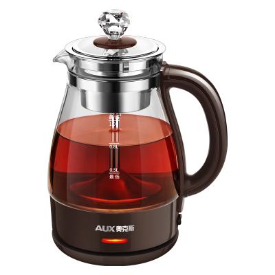 奥克斯煮茶器HX-Z1001H蒸汽萃取高硼硅玻璃 304不锈钢黑茶煮茶壶家用全自动蒸汽玻璃电热花茶普洱蒸茶壶 标准款