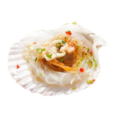 怡鲜来 新鲜冷冻蒜蓉粉丝日月扇贝 虾夷半壳扇贝260g 6只装 蒸5分钟即可食用