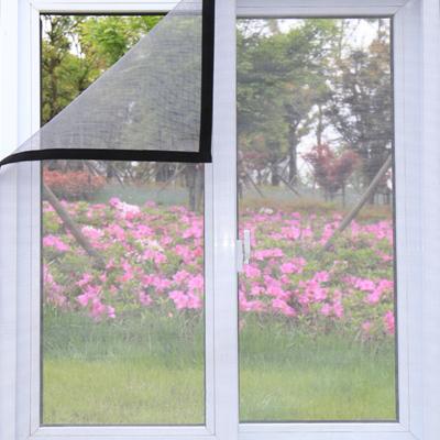 窗戶防蚊子紗窗紗網磁性沙窗門簾家用可拆卸自粘式魔術貼自裝窗簾- 60x100cm
