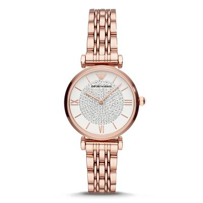 阿玛尼(Emporio Armani)手表 满天星钢带女士石英表 防水休闲商务女士腕表 佟丽娅同款AR11244