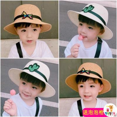 兒童帽夏防曬帽男寶寶遮陽帽太陽帽涼帽可折疊沙灘帽2-10歲