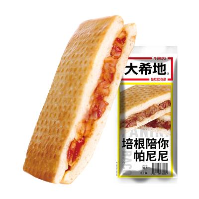 【滿299-160】大希地 培根陪你帕尼尼 100g*3個 口感香脆 早餐 零食 西式漢堡 加熱即食