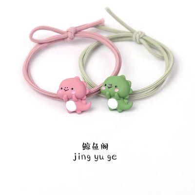 韓國萌萌可愛小恐龍發圈皮筋送男友發繩卡通小皮套少女扎頭發頭繩