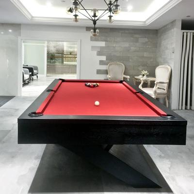 健伦(JEEANLEAN)原实木雕刻台球桌标准型美式黑八成人花式九球家用室内别墅欧式桌球台
