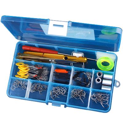魚鉤套裝漁具用品全套魚具大全勾魚釣盒釣魚鉤散裝魚線小配件裝備