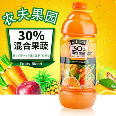 农夫山泉 混合果蔬1.8L*1瓶 单装果味饮料 多口味随机发