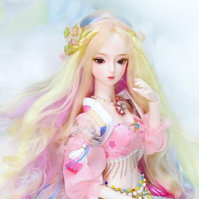 德必勝娃娃DF夢童話芭比娃娃公主套裝大禮盒古裝娃娃改妝換裝仿真洋娃娃兒童男孩女孩玩具生日禮物桃花夭夭DF18101