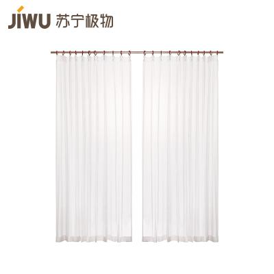 苏宁极物 简约素雅百搭平面窗纱窗帘 装饰+半遮光
