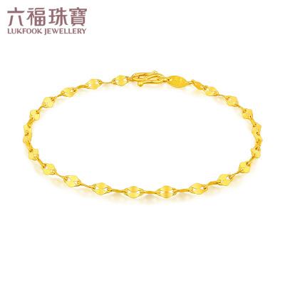 六福珠寶 足金十字相連黃金手鏈女士 計價 B01TBGB0006,1.97克(含工費80元)