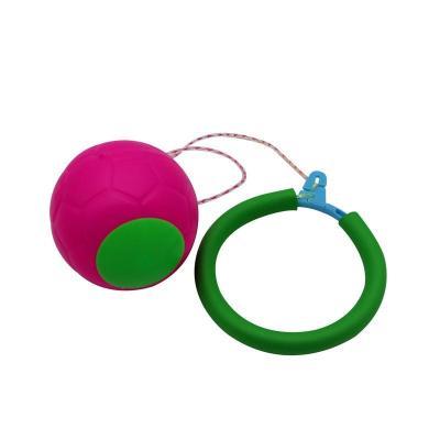 脚踝球运动甩脚球跳环圈旋转儿童跳跳球户外小孩单腿玩具。[定制] 粉色