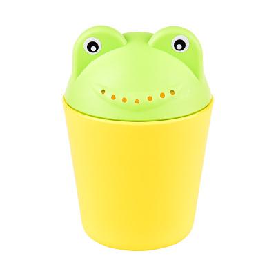 马博士宝宝洗头杯花洒水勺婴儿洗澡沐浴勺儿童加厚pp材质洗发杯 黄+绿