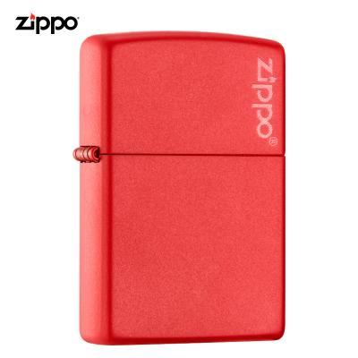 zippo打火机美国原装ZIPPO打火机红哑漆商标之宝打火机233ZL-043266