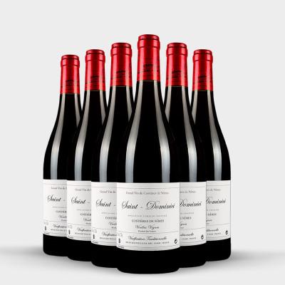 WINEBOSS 法国原瓶进口红酒法国明星酒庄AOC原装进口干红葡萄酒 尼姆之丘