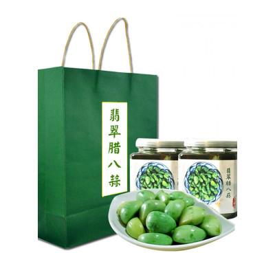 博多客山东金乡大蒜翡翠腊八蒜礼盒装绿蒜醋泡蒜糖蒜绿蒜头800g2罐生鲜新鲜