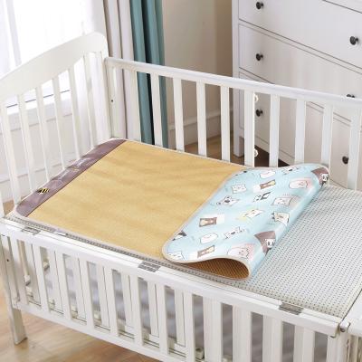 萝卜探长孕婴童凉席婴儿床凉席双面席宝宝藤席幼儿园新生儿床夏季婴儿席1-3岁60*120cm
