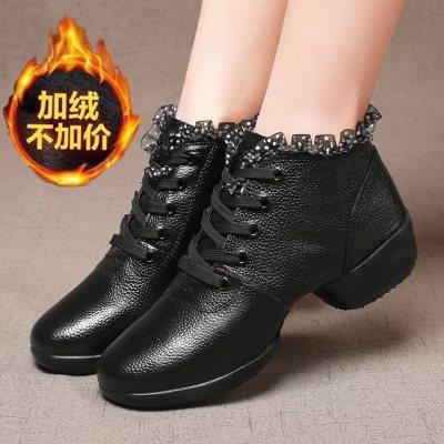 真皮舞蹈鞋女鞋成人广场鞋爵士四季跳舞鞋软底水兵舞鞋女户外运动儿童成人学生