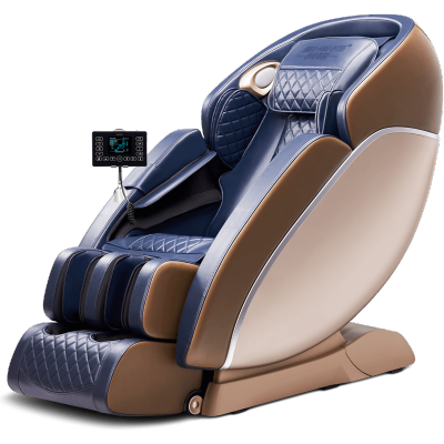 尚銘按摩椅家用全身豪華小型全自動多功能SL導軌零重力太空音樂艙SM-815L藍金色