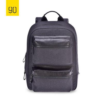 90分商务通勤多功能双肩包 新品上市14英寸笔记本电脑包 黑色时尚大容量双肩包