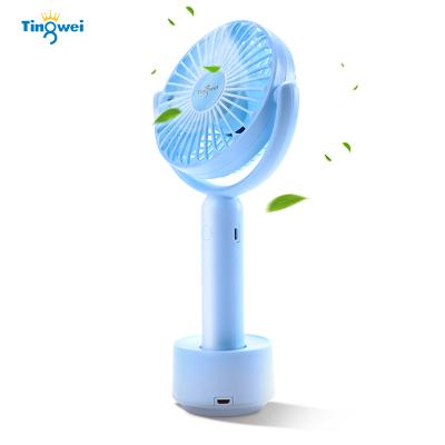 婷微(Tingwei) 手持充電小風扇USB便攜式桌面風扇可移動辦公室靜音宿舍手持迷你風扇(粉色 1200mAh)