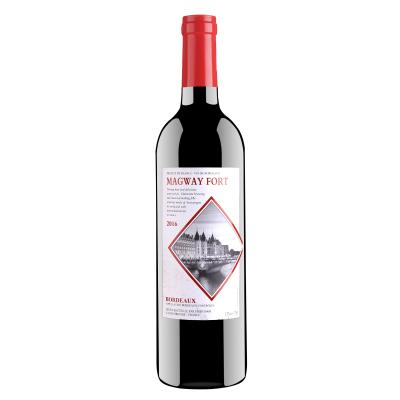 【單支】法國原瓶進口瑪格威堡波爾多產區AOC級別750ml13度干紅葡萄酒紅酒酒水