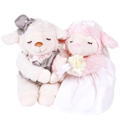 LIV HEART正品羊公仔新婚創意壓床娃娃一對婚慶結婚送禮送朋友