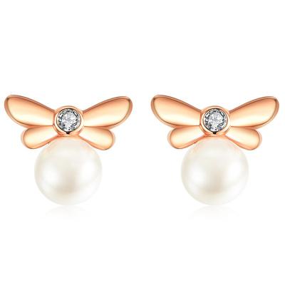 法蔻輕奢品牌珍珠耳釘女925銀2019新款潮高級感小眾法式顯瘦網紅洋氣耳環女士