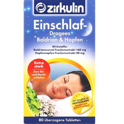 德國哲庫林(Zirkulin) 進口纈草酒花果減壓盒裝80片越橘/藍莓提取物 片劑 68g