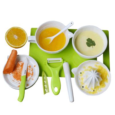 美帝亞(MIDDIA)陶瓷嬰兒輔食研磨器全套裝寶寶輔食工具食物碗手動水果泥FS02GLW01
