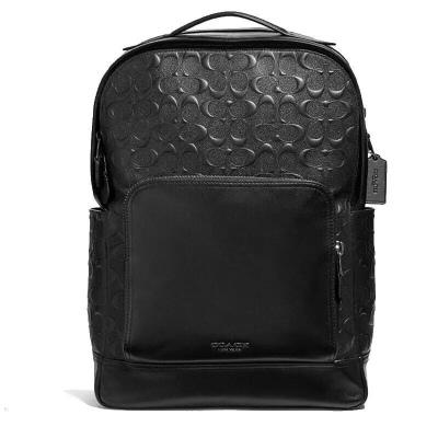 全新正品 海外直郵 美國蔻馳(COACH)休閑雙肩背包登山包書包 浮雕黑色F50719