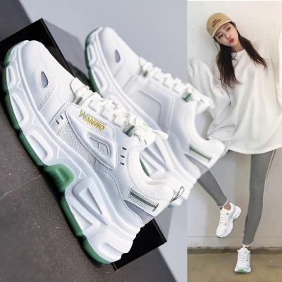策霸百搭老爹女鞋2020秋季新款韓版運動鞋女ins原宿學生增高厚底鞋子