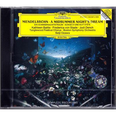 原版進口CD 門德爾松:仲夏夜之夢 小澤征爾 Mendelssohn 4398972