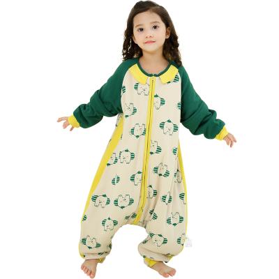 龍之涵幼兒童睡袋嬰兒夏季薄款春秋寶寶分腿睡袋防踢被純棉四季通用