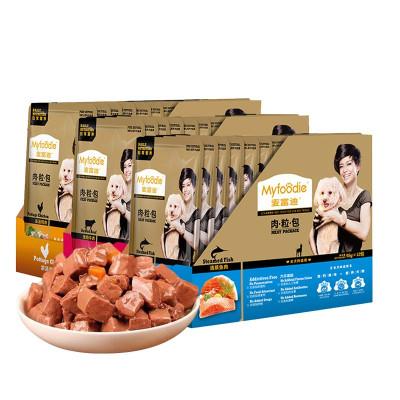 麥富迪 狗罐頭濕糧妙鮮肉粒包 泰迪金毛零食 混合味(95g*12包)