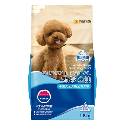 疯狂的小狗狗粮 小型犬幼犬成犬通用犬粮1.5kg
