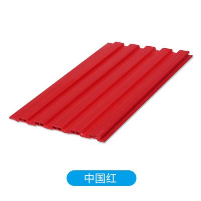 生態木吊頂護墻板閃電客150小長城板幼兒園墻裙綠可木裝飾板pvc扣板材料 紅色(中國紅)