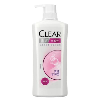 清揚女生去屑洗發水洗發露洗發乳 弱酸性 清透水潤型 720G