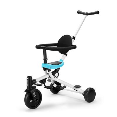 nadle纳豆儿童三轮车溜娃遛娃神器1-3-6岁宝宝脚踏手推车轻便折叠
