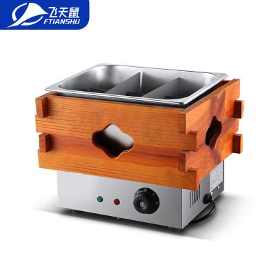 飛天鼠(FTIANSHU) 商用電熱單缸木框關東煮鍋