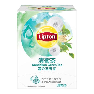 立頓Lipton 花草茶 清衡茶 蒲公英茶 蒲公英綠茶 三角茶包袋泡茶葉調味茶3g*15包 方便下午茶