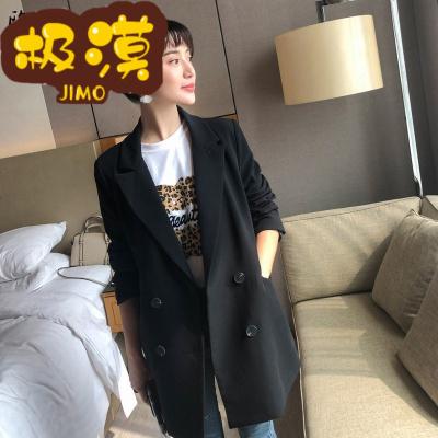 JIMO 香港 轻奢时尚女装米色西装外套女韩版修身2019新款秋季chic网红英伦风小西服上衣女