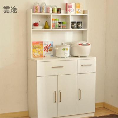 簡約現代餐邊柜 餐廳櫥柜 廚房茶水儲物碗柜微波爐架酒柜定制 白色 3門