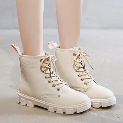 梵蒂加(VENTIGA)女鞋LY-B020高帮靴女2019秋冬新款复古英伦马丁靴帅气机车靴短靴单鞋系带款骑士靴