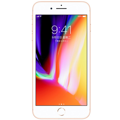 【全新正品】Apple/iPhone8 Plus【裸機】手機美版未激活有鎖 移動聯通4G 金色64G(配卡貼)