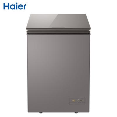 海尔(Haier)BC/BD-100HET 100升顶开门轻奢家用冷柜 电子控温冷藏冷冻转换小冰箱 风循环 深冷 减霜