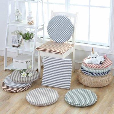布艺圆形坐垫加厚椅子垫榻榻米藤椅垫家用日式记忆棉学生坐垫多色多功能榻榻米空间榻榻米垫