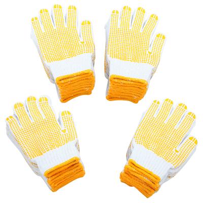 賽拓(SANTO)2096 點塑棉紗手套24付裝 漂白棉紗點珠點膠手套 工作司機開車防塵點珠手套