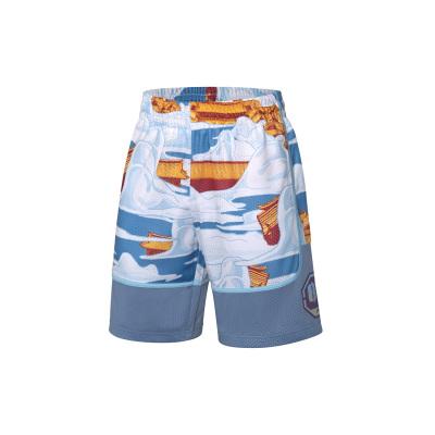 李寧反伍BADFIVExXLARGE聯名款籃球比賽褲男士新款針織運動短褲AAPP443