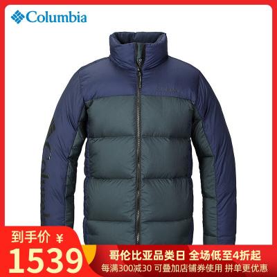 哥伦比亚户外男装热能反射防水700蓬鹅绒保暖羽绒服PM5563